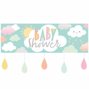 Clouds Baby Shower Banners 6 ct