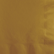 Value Friendly Glittering Gold Beverage Napkins 240 ct