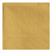 Glittering Gold Hoffmaster Beverage Napkins in quantities of 250 / pkg, 4 pkgs / case