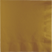 Glittering Gold Dinner Napkins 3 Ply 250 ct
