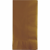 Touch of Color Glittering Gold 2 Ply Dinner Napkins in quantities of 50 / pkg, 12 pkgs / case
