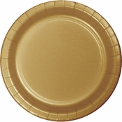 Value Friendly Glittering Gold Dessert Plates 96 ct