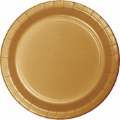 Value Friendly Glittering Gold Dinner Plates 96 ct