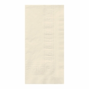 Greek Key Embossed Ecru Dinner Napkins in quantities of 100 / pkg, 6 pkgs / case