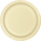 Touch of Color Ivory Dessert Plates in quantities of 24 / pkg, 10 pkgs / case