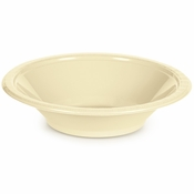 Touch of Color Ivory 12 oz Plastic Bowls in quantities of 20 / pkg, 12 pkgs / case