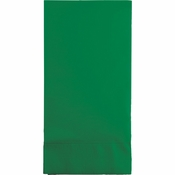 Touch of Color Emerald Green 3 Ply Guest Towels in quantities of 16 / pkg, 12 pkgs / case
