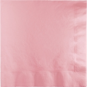Touch of Color Classic Pink 2 Ply Luncheon Napkins in quantities of 50 / pkg, 12 pkgs / case