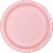 Touch of Color Classic Pink Dessert Plates in quantities of 24 / pkg, 10 pkgs / case