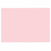 "Pink 9.5"" x 13.5"" Economy Paper Placemat, flat packed in quantities of 1000 / case"
