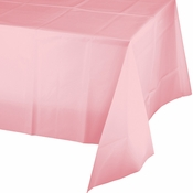Classic Pink Plastic Tablecloth 24 ct
