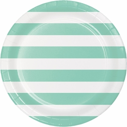 Mint Green Polka Dots and Stripes Party Supplies