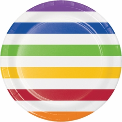 Multicolor Polka Dots and Stripes Party Supplies