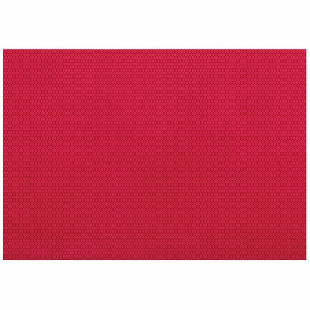 """11"""" x 16"""" Red Pebble-Embossed Plastic Placemats 250 ct"""