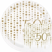 Sparkle and Shine Gold 50th Anniversary Party Supplies