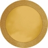 14 inch round Gold Glitz Placemat with Glitter Border is sold in bulk quantities of 8 / pkg, 12 pkgs / case