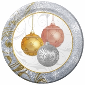 "10"" All That Glitters Paper Banquet Plates 200 ct"