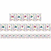 Rainbow Foil Happy Birthday Party Banners 6 ct