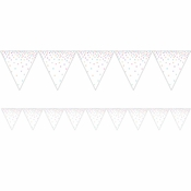 Iridescent Party Flag Banners 12 ct