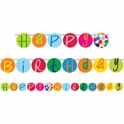 Birthday Dots by French Bull Party Banners 6 ct