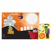 Halloween Paper Activity Placemats 96 ct