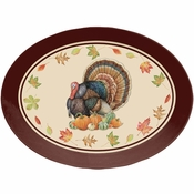 Turkey Oval Plastic Trays 12 ct