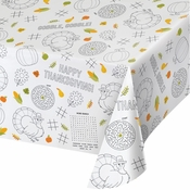 Thanksgiving Paper Activity Tablecloths 12 ct