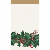 Winter Holly Guest Towels 192 ct