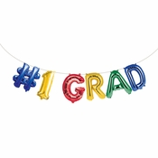 #1 Grad Balloons Banners 72 ct