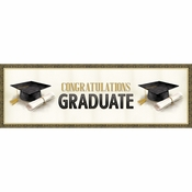 Classic Graduation Giant Party Banners 6 ct