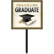Classic Graduation Yard Signs 6 ct