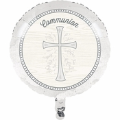Divinity Silver Communion Mylar Balloons 10 ct