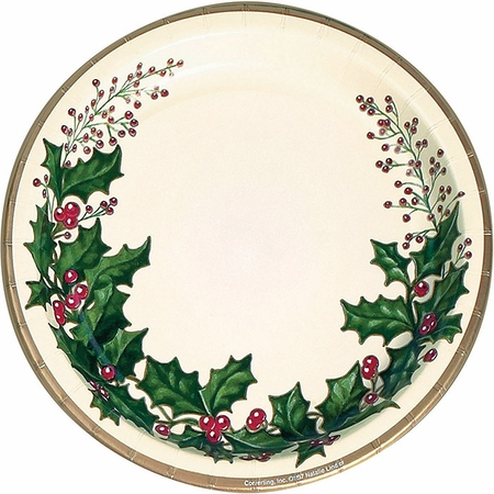 Winter Holly Banquet Plates 300 ct