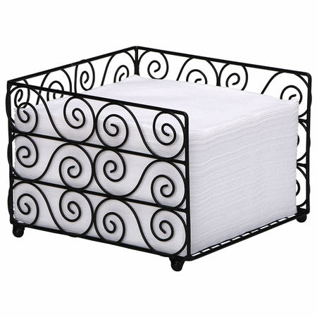 """7"""" x 5"""" Wire Basket and Linen-Like Napkin Combo 1 ct"""