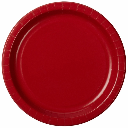 """10"""" Red Paper Banquet Plates 300 ct"""