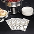 White, black, gold and silver Mystic Pouches with Napkin and Cutlery sold in quantities of 100 / pkg, 1 pkg / case.
