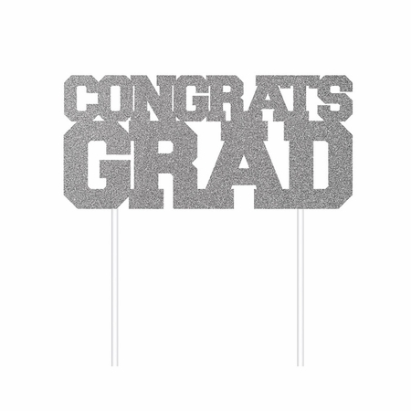 Graduation Glitter Cake Toppers 12 ct