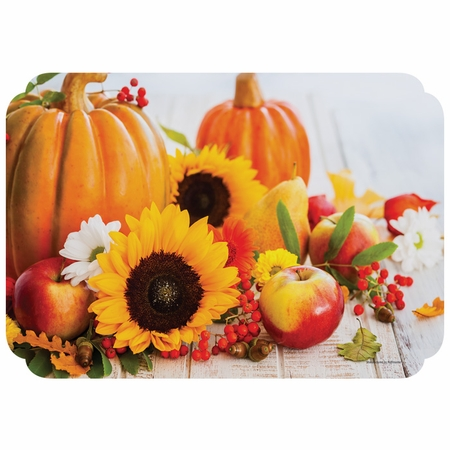 "10"" x 14"" Fall Harvest Paper Placemats 1000 ct"