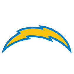 Blue, white and gold Los Angeles Chargers Party Supplies