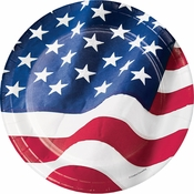 Patriotic Flag Dinner Plates 96 ct