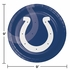 Blue and white Indianapolis Colts Dinner Plates sold in quantities of 8 / pkg, 12 pkgs / case