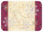 """Gold and silver Tis the Season 15"""" x 20"""" Traymat in quantities of 1,000 / pkg, 1 pkg / case"""