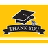 Graduation School Spirit Yellow Thank You Notes 75 ct