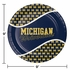 Blue and yellow University of Michigan Dinner Plate sold in quantities of 8 / pkg, 12 pkg / case