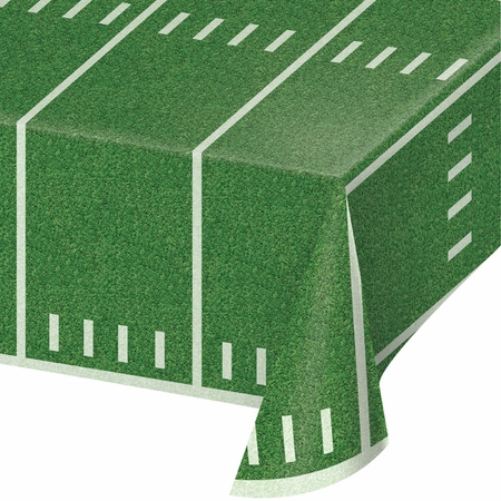 Football Field Plastic Tablecloths 6 ct