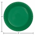 Touch of Color Emerald Green Plastic Dessert Plates in quantities of 20 / pkg, 12 pkgs / case