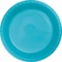Touch of Color Bermuda Blue Plastic Dessert Plates 240 ct in quantities of 20 / pkg, 12 pkgs / case