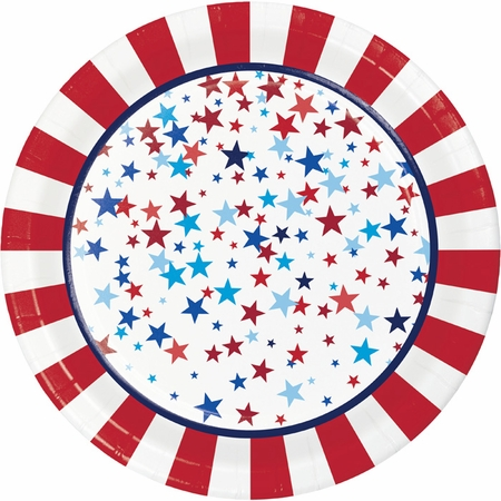 Patriotic Pride Fourth of July Dinner Plates 96 ct