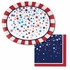 Patriotic Pride Fourth of July Oval Plates 96 ct