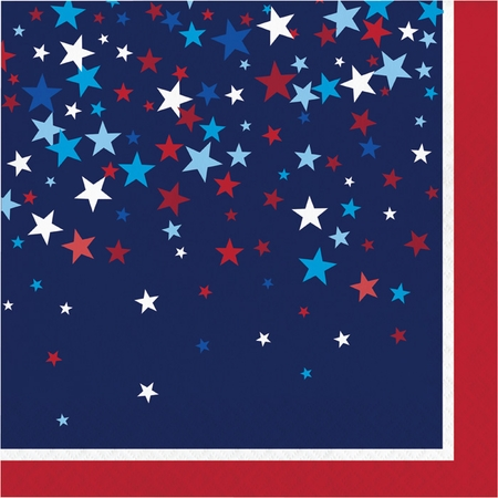 Patriotic Pride Fourth of July Luncheon Napkins 192 ct
